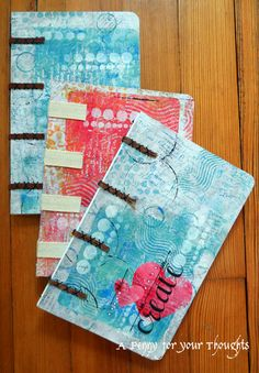 A Penny for your Thoughts: Learning new journal bindings... with Gelli prints!