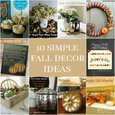 10 simple fall decorations you can make yourself!