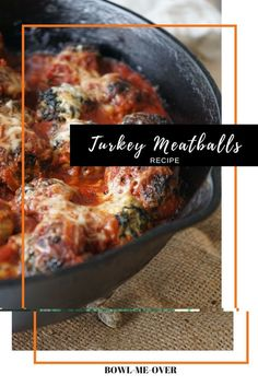 These Turkey Meatballs are a great and healthy weeknight night dinner!  Turkey Meatball Recipe | Easy weeknight dinner | Italian meatball recipe | Healthy meatball recipe #turkeymeatball #easydinner #healthydinner