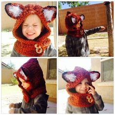 Fox Hooded Cowl Toddler child teen adult by LilBeginningsCrochet, $40.00 by llSofiell