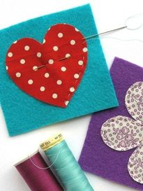 How to make felt and fabric brooches (Foto-Anleitung)