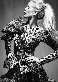 Claudia Schiffer in Dior Haute Couture | Ph. by Liz Collins