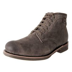 LACE UP ANKLE BOOTS CAINE MID DARK GREY