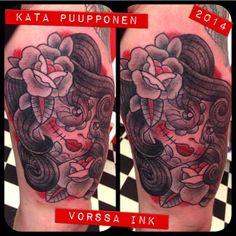https://www.facebook.com/VorssaInk, http://tattoosbykata.blogspot.fi, #tattoo #tatuointi #katapuupponen #vorssaink #forssa #finland #traditionaltattoo #suomi #oldschool #muerte