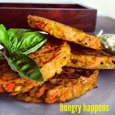 Sweet Potato Fritters www.hungryhappens.com