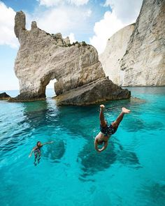 Taking a dip in the Greek waters | Zakynthos Island | Chris Burkard Photography Say Yes To Adventure