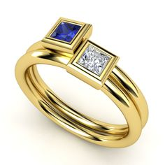 Princess Solitaire Stackable Rings | Gemvara
