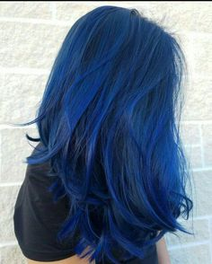 Amazing vibrant sapphire blue Aveda hair color by Aveda Artist Chelsea Lenahan. … Amazing vibrant sapphire blue Aveda hair color by Aveda Artist Chelsea Lenahan. Formula in comments. - Station Of Colored Hairs Hair Dye Colors, Hair Color Blue, Cool Hair Color, Navy Blue Hair, White Hair, Unique Hair Color, Bright Blue Hair, Ombre Colour, Dyed Hair Blue