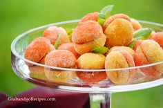 Italian Peach Cookies with Dulche de Leche Filling