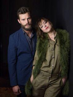Jaime Dornan & Dakota Johnson   Photoshoot for USA Today