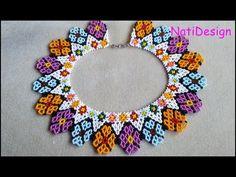Crochet Flower Tutorial, Crochet Flowers, Beaded Jewelry Patterns, Beading Patterns, Bead Crochet, Crochet Earrings, Paper Crafts Origami, Bead Jewellery, Bead Art