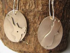 Sterling Silver and Bronze New Zealand Dangle Earrings.  by ZaZing, $80.00
