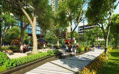 Thiết kế các cây xanh một cách hoàn hảo đã tạo nên hệ thống sân vườn tiện ích chung cư Hapulico. Công viên xây dựng bên dưới khu chung cư và nơi đây luôn rộng cửa chào đón những ai có thời gian rảnh trong ngày.