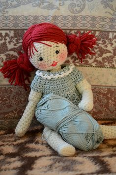 Cute face idea for a crochet doll