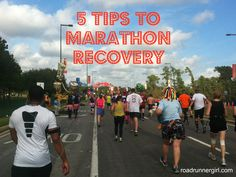 Road Runner Girl: 5 Tips to Marathon Recovery Runner Girl, Road Runner, Marathon Recovery, Fitness Tips, Fitness Motivation, Race Bibs, First Marathon, Pink Power, Amazing Race