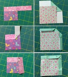 SO many ways!: finishing binding on quilts Bewildered about binding? Here's a clever way to remember all those peculiar folds: paper binding that you can cut, fold, and keep as a handy example! Quilting For Beginners, Quilting Tips, Quilting Tutorials, Machine Quilting, Quilting Projects, Quilting Designs, Sewing Projects, Beginner Quilting, Art Quilting