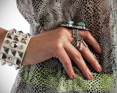 Rings, Cuffs & Snake Print!