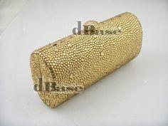 69.00$  Buy here - http://alir40.worldwells.pw/go.php?t=32378863151 - L7703GD Gold Crystal Lady Fashion Bridal Party Night Metal Evening purse handbag clutch bag