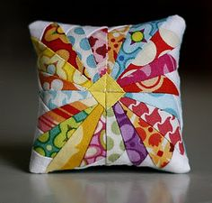"Adorable 3"" Paper Pieced Pincushion"