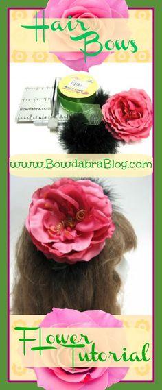 Flower Hair Bows Tutorial