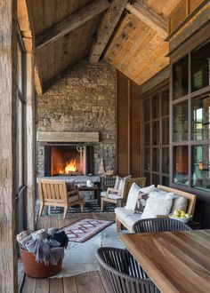 "georgianadesign: ""'2016 Mountain Living House Of The Year.' JLF & Associates, Inc., architects & building designers, Bozeman, MT. Audrey Hall photo. """