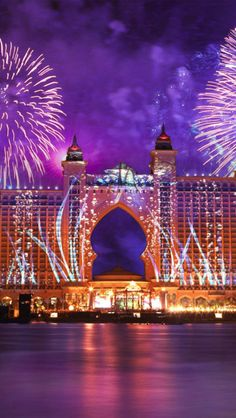Fireworks at the Atlantis Palm Hotel in Dubai