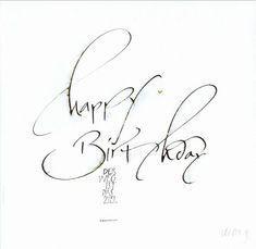 Minimalisus at it´s best! Wunderschönes Handlettering >> Manuela Maurer - Kalligraphie