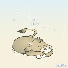 Tauro // Taurus (by arilo.es) Illustration, Snoopy, Fictional Characters, Taurus, Illustrations, Fantasy Characters