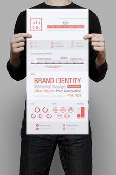 Personal Brand by italian graphic designer alice fattore Cv Design, Resume Design, Logo Design, Print Design, Resume References, Curriculum Vitae Resume, Resume Template Examples, Creative Cv, Marketing Words