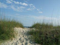 Oak Island NC sugar sand dunes