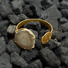 Handmade Designer 22k Yellow Gold Plated Hammered by darlingpiece