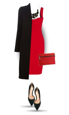 """Something red for Christmas"" by bliznec ❤ liked on Polyvore featuring Victoria Beckham, Emi Jewellery, Gianvito Rossi and Givenchy"