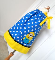 Despicable Me Minion Blue Polka Dot Pillowcase Dress ...perfect for a themed birthday!