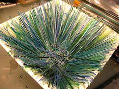 on edge strip glass fusing platter - Google Search