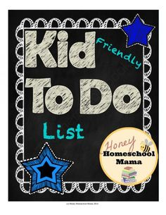 Kid Friendly To Do Lists to Help Kids Get Organized and Get Things Done from HoneyHomeschoolMama on TeachersNotebook.com -  (5 pages)  - These kid friendly to do lists keep things fun while still helping to keep kids organized and help them get things done.