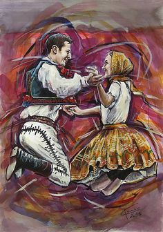European Countries, Czech Republic, Folklore, Country, Anime, Painting, Art, Ballroom Dancing, Craft Art