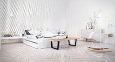 Scandinavian white bedroom furnitures