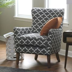 Belham Living Palmer Printed Arm Chair - A sophisticated choice for your tailored living space, this Belham Living Palmer Printed Arm Chair is an updated take on the classic wingback chair. T... #AccentChair