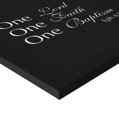 One Lord, Faith, Baptism Gallery Wrapped Canvas