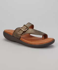 Look what I found on #zulily! Bronze Seagol Leather Sandal by Gentle Souls #zulilyfinds