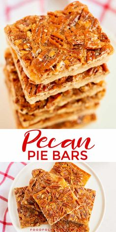 These Pecan Pie Bars are so easy to make and believe it or not BETTER than pecan pie! Theyre rich silky and the shortbread crust is the stuff your buttery dreams are made of! Pecan Recipes, Top Recipes, Baking Recipes, Snack Recipes, Recipies, Snacks, Easy Recipes, Breakfast Recipes, Easy Desserts
