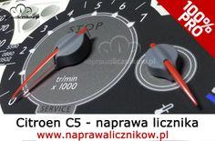 Licznik Citroen C5 i naprawa obrotomierza
