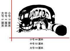 Totoro muur stok een grote kat hayao miyazaki cartoon de hand geschilderd totoro anime curtilage stickers in product details grootte van het product S: hoge 32cm*wide 44cm M: hoge 44cm*wide 52cm van muurstickers op AliExpress.com | Alibaba Groep