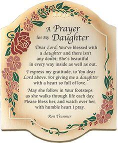 Short Christian Prayers   Prayer For My Daughter Inspirational Christian Plaque