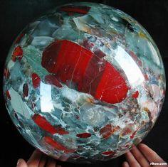 African Bloodstone Via rocks-gems-and-minerals o.O