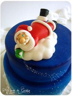 Modelage Père Noël (pâte à sucre) (tuto sur le blog)