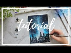 (32) STEP BY STEP Galaxy Tutorial: Painting With Watercolor - YouTube
