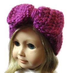 American Girl Doll Headband Ear Warmer Purple by PreciousBowtique