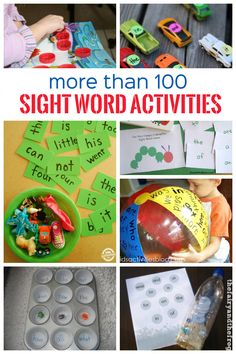 More than 100 Sight Word activities. For kids learning to read, sight word activities can be really helpful. Learning sight words helps you to learn to read faster by being able to identify frequently used words without having to sound them out. Teaching Sight Words, Sight Word Practice, Sight Word Activities, Literacy Activities, Activities For Kids, Literacy Centers, Literacy Stations, E Learning, Teaching Reading