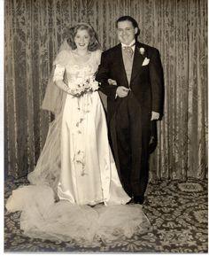 Vintage 8 x 10 Photo Beautiful Bride Goom Portrait Wedding 1950's Sep   eBay